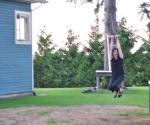 Ann!! Ziplining at the Voskamp Farm