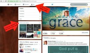 URL tutorial Twitter A