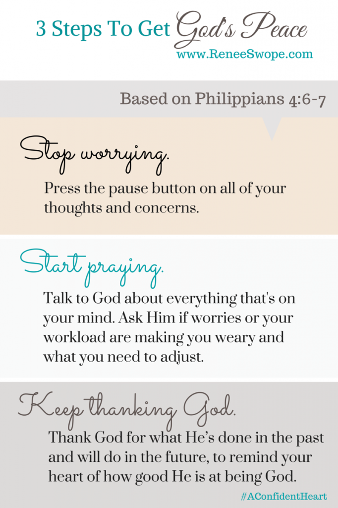3 Steps To Get God's Peace {Printable & GiveAway}
