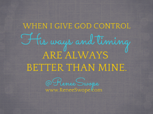 When I Give God Control