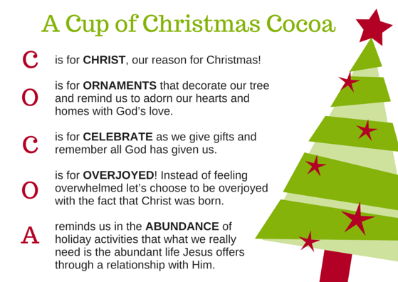 A Cup of Christmas Cocoa
