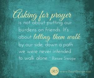Asking for prayer